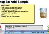 Step 3a - add your sample to the mixing chamber