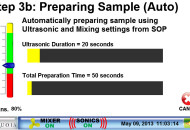 Step 3B - Preparing the sample (auto mode - i.e. when an SOP is used)