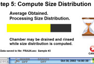 Step 5 - compute size distribution